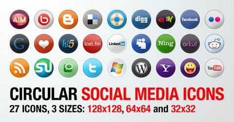 סמלים של רשתות חברתיות להורדה