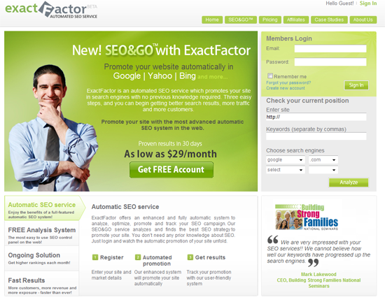 exactfactor - מיקם שלך במנוע חיפוש