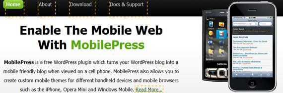 תוסף וורדפרס mobilepress