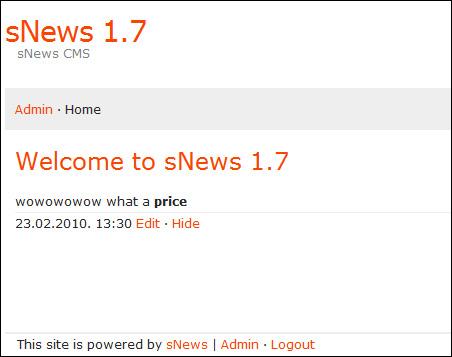 מערכת ניהול תוכן sNews