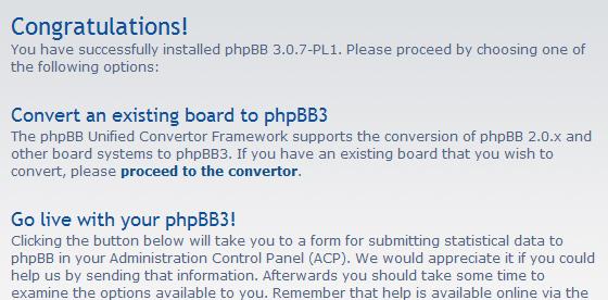 התקנה ובניית פורום באמצעות PhpBB