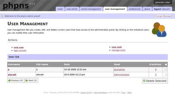 מערכת ניהול תוכן Phpns