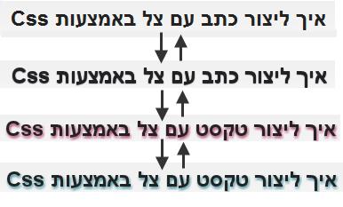 יצירת טקסט עם צל באמצעות CSS