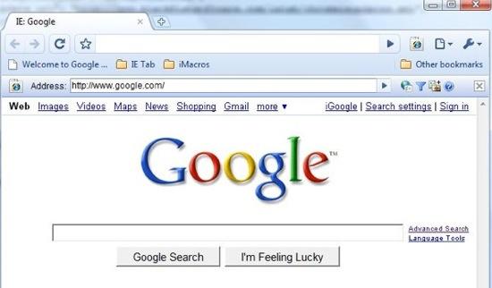 IE Tab in Google Chrome