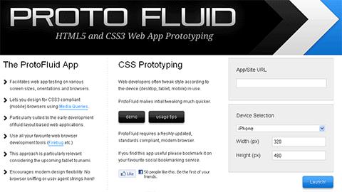 בדיקת אתרים באמצעות ProtoFluid