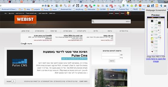 תוספים לגוגל כרום - Webpage Screenshot