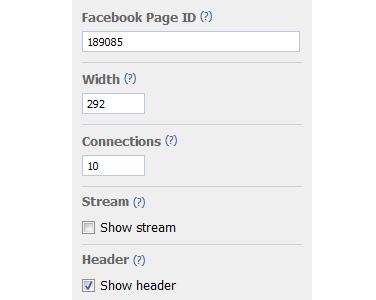 מספר סידורי של עמוד המעריצים בפייסבוק