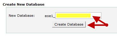 יצירת בסיס נתונים