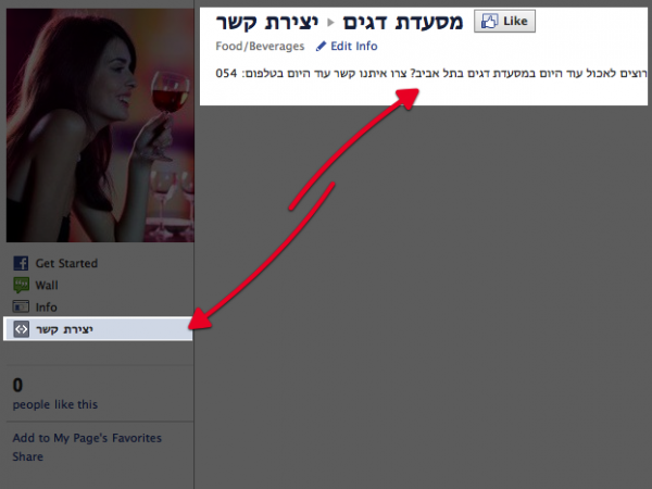 איך פותחים דף נחיתה בפייסבוק ?