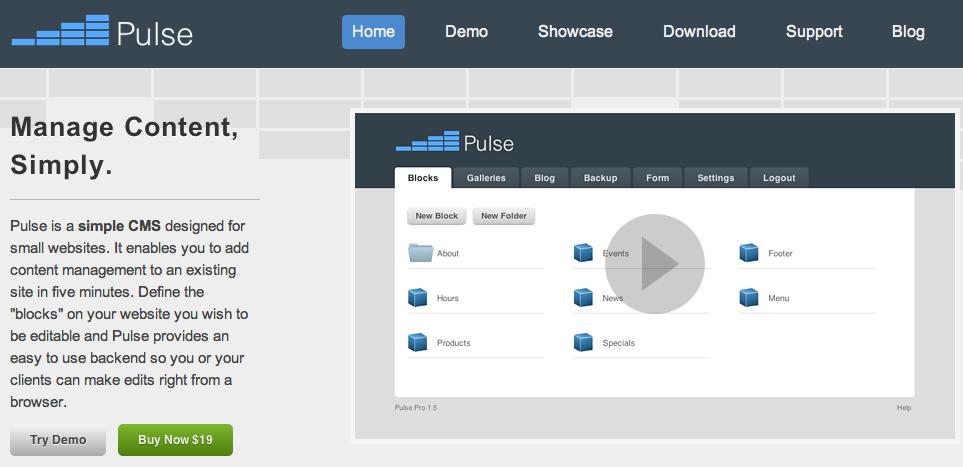 pulsecms - מערכת ניהול תוכן