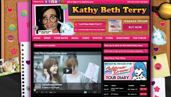Katy Perry - זמרת מצליחה ברשת MTV