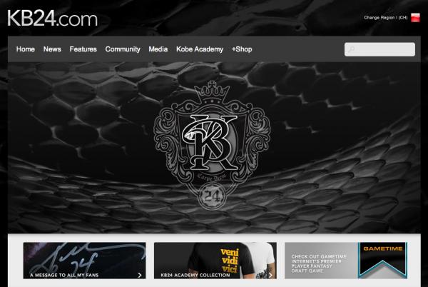 Kobe Bryant Website