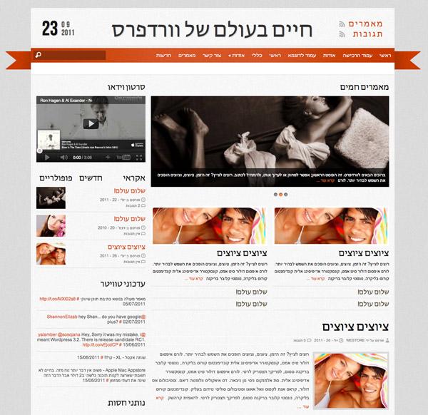 תבנית וורדפרס מגזין - Reporter מתורגמת לעברית