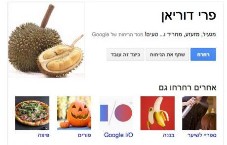 חיפוש ריחות ב – Google Nose | רחרוח אחד שווה אלף מילים