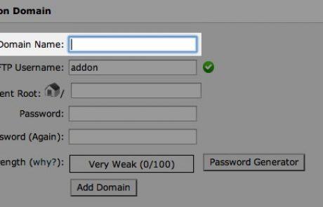 איך לנהל דומיינים בשרת עם ממשק Cpanel