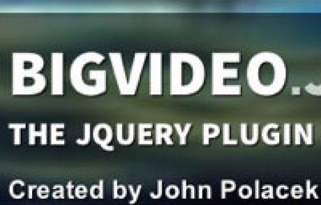 BigVideo.js – מאפשר להריץ סרטון ברקע של האתר